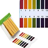 TOOGOO 3 set 240 Tiras Professional 1-14 pH papel de tornasol tiras de prueba ph cosmeticos agua suelo pH Test Tiras de papel con tarjeta de control