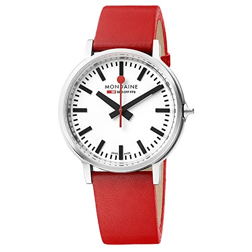 Mondaine Unisex-Adult Quartz Watch, Analogue Classic Display and Leather Strap MST.4101B.LC