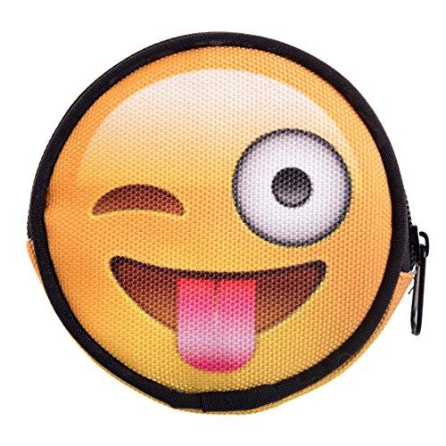 dbörse mit Reißverschluss Taschenorganizer Münzbörse Emoji Tongue [041] (Hello Kitty Marihuana-zubehör)