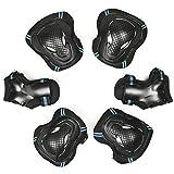 Aodoor Protezione kit Bambini, Set di Protezione Polso per Roller Skate Bici Skateboard Sport per bambini/ragazzi ginocchia, gomiti e polsi 6 PCS