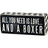 Primitives by Kathy Box Sign, 2.5-inch by 6-inch, Boxer