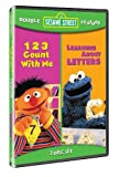 Sesame Street Double Feature: 123 Count With Me/Learning About Letters by Various