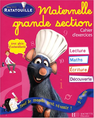 Ratatouille Maternelle Grande Section : Cahier d'exercices par Susan Sunder
