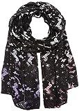 CODELLO Damen Schal 72093508, Schwarz (Black 7), One size (Herstellergröße: 55X180 cm)