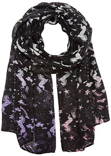 CODELLO Damen 72093508 Schal, Schwarz (Black 7), One size (Herstellergröße: 55X180 cm)