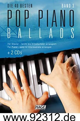 Edition Hage Pop Piano Ballads Band 3 - mit 2 CD's