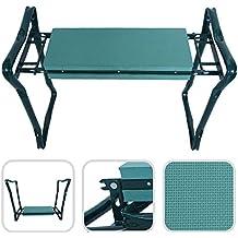 Banco reclinatorio de jardín plegable – Asiento de espuma confortable con pata de acero
