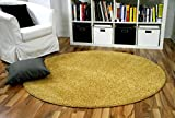 Snapstyle Hochflor Velours Teppich Mona Curry Rund in 7 Größen