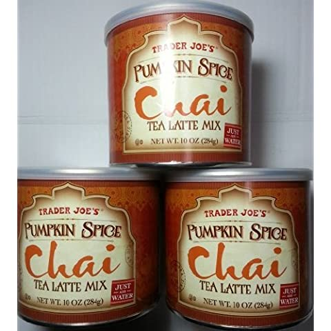 Trader Joe's Pumpkin Spice Chai Tea Latte Mix (Three 10 oz. Canisters) by Trader Joe's