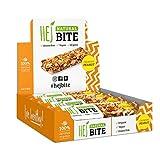 HEJ Natural Bite Crunchy Peanut - Barre aux noix Bio - Barre énergétique - Produits 100% naturels - Barre végétalienne aux noix - Collation santé - Barre énergétique -1er pack (8 x 40g)