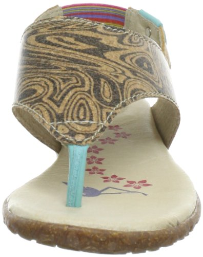 Stork Steps A3, Sandales femme Multicolore (Turquoise/Cork/Beige)