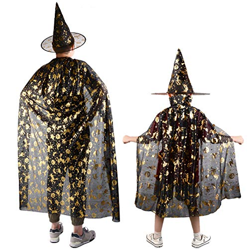 New 2 STÜCKE Halloween Hexe Mantel Fashion Star Kostüm Mantel Cosplay Cape mit - Kostüm Mit Hüten