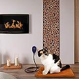 Beslands Beslands Heizmatte für Haustiere Hunde und Katzen Heizkissen 15 Watt Sicher und wasserdicht Heizdecke Wärmematt emit 7 einstellbaren Konstante Temperaturen(40 * 30cm) (S)