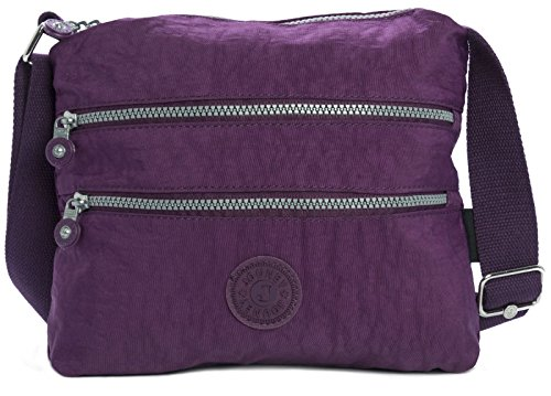 Big Handbag Shop - Borsa a tracolla unisex (viola)