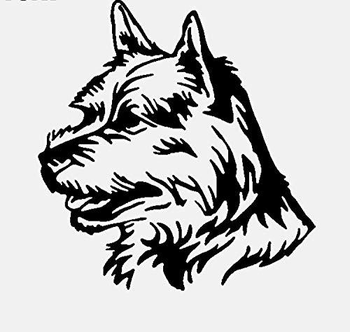 Wandaufkleber Lustige Hund Gesicht Pvc Hohe Qualität Wandaufkleber Art Home Room Aufkleber 53,1 Cm * 55 Cm