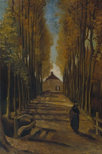 Avenue of poplars in autumn, Vincent van Gogh: Journal (notebook, composition book) 160 Lined / ruled pages, 6x9 inch (15.24 x 22.86 cm) Laminated -