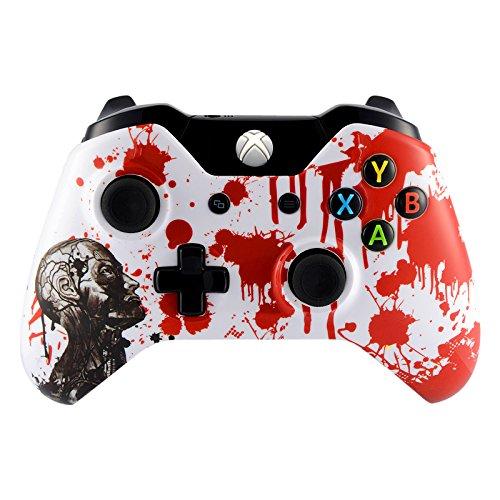 eXtremeRate® Xbox One Case Schutzhülle Obere Hülle Cover Oberschale Skin Schale Gehäuse für Xbox One Standard Controller mit oder ohne 3,5mm Anschluss(Zombie)