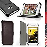 igadgitz U3880Folio PU Leder Tasche Case Schutzhülle für Motorola Moto E 2. Generation 2015xt1564mit Displayschutzfolie–Schwarz