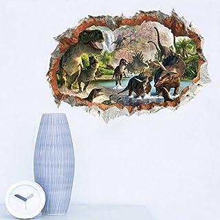 ufengke® Jurassic Park Dinosauriers Gebrochen Wand Wandabziehbilder,Kinderzimmer Babyzimmer Entfernbare Wandtattoos Wandbilder
