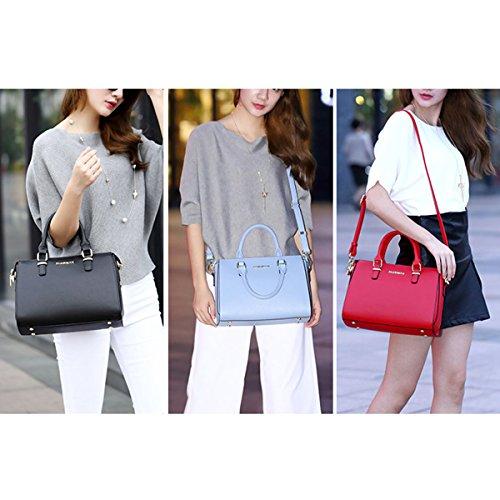 WU ZHI Damen Handtasche Herbst Winter Schultertasche Messenger Bag Red