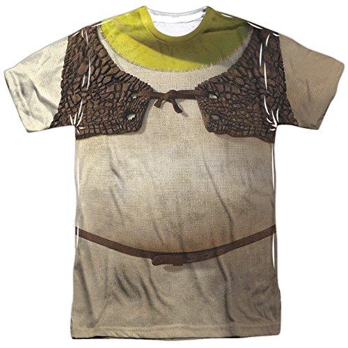 Shrek Girl Kostüm - Shrek Herren Kostüm Sublimierung Shirt Weiß weiß Large