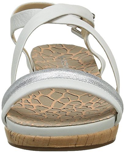 Geox D Abbie C, Sandales Femme Blanc (C0007)