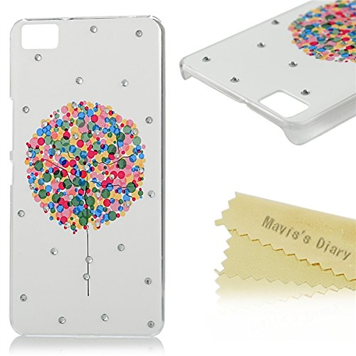bq Aquaris M5 Funda Transparente Cristal PC Case Dura - Mavis's Diary® Funda para móvil Carcasa Resistente a los Arañazos para fundas bq Aquaris M5 Diseño de globos de colores