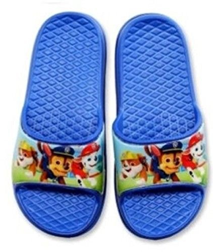 Boys Girls Paw Patrol Flip Flop Pool Shower Beach slip on (9 Uk 27 Eu, Option 1)