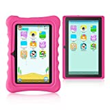 Yuntab Kids Tablet Q88H, Android 4.4 OS Allwinner A33 1.5Ghz Quad Core CPU, 7 Inch 1024x600 HD Display 512+8GB Capacity Dual Camera with iWawa Parental Control Software Pre-installed, Support Bluetooth 4.0 Wifi 3D Game HD Video TF Card with Kid-Proof Silicone Case (Rosa)