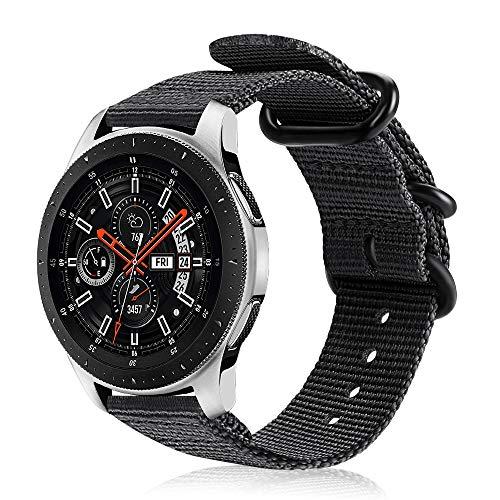 FINTIE Cinturino per Galaxy Watch 46mm/Gear S3 Classic/Gear S3 Frontier/Huawei Watch GT Sport, 22 mm Morbido Tessuto di Nylon...