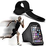 Fone-Case (Black) Archos 50 Saphir Einstellbare Sport-Armband Fall-Abdeckung für Laufen Jogging Radfahren Gym