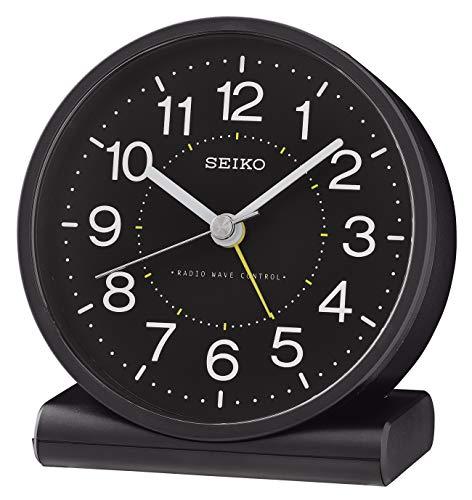 Seiko Wecker, Kunststoff, schwarz, 11.1 x 10.3 x 5.6
