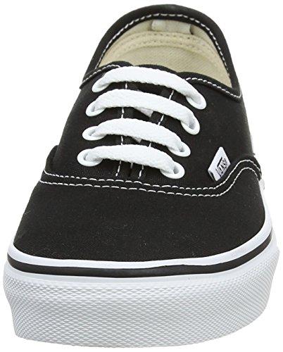 Vans K Authentic, Baskets mode mixte enfant Noir (Black/True White)