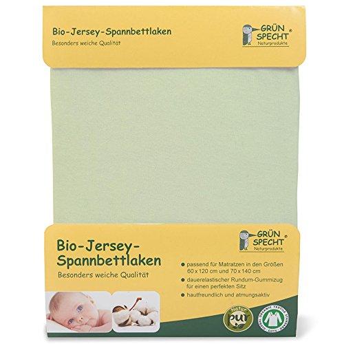 Grünspecht 659-00 Bio-Jersey-Spannbettlaken, GOTS, hellgrün