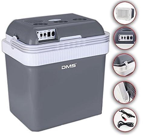 DMS® Kühlbox Kühltasche Gefriertasche 25L Getränkebox Wärmebox 12-24V LKW und PKW zum Kühlen und Warmhalten geeignet (Grau)