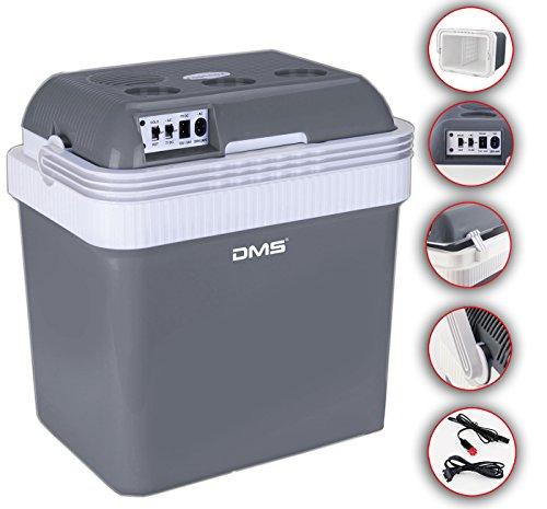 DMS Kühlbox Kühltasche Gefriertasche 25L Getränkebox Wärmebox 12-24V LKW und PKW Zum Kühlen und Warmhalten Geeignet (Grau)