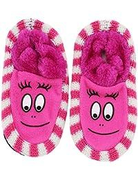 Neska Moda Soft Cotton Girl Pink Bootie Cum Indoor Slipper for 4 to 6 Years BT350