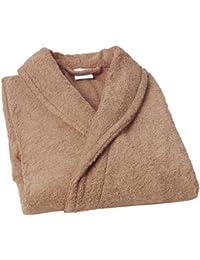 Home Basic - Albornoz con cuello tipo smoking, talla S, color visón