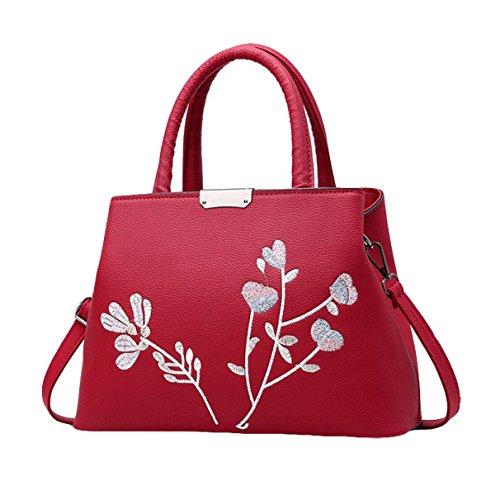 Süße Damen Mode Handtaschen Messenger Bag Schultertasche Handtasche Einfach Wild Red