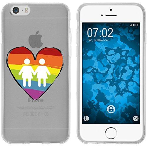 PhoneNatic Apple iPhone 6s / 6 Custodia in Silicone pride M3 Case iPhone 6s / 6 + pellicola protettiva Motif: 4