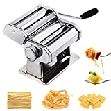 CHEFLY Pasta Ravioli Maker Set All in one 9 Thickness Settings for Fresh