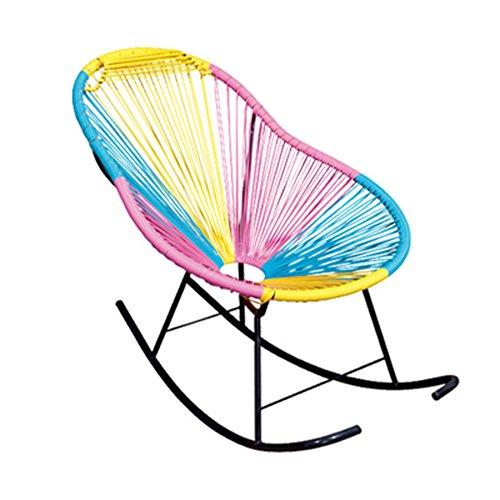 QFFL Chaises Longues de Chaise d'osier de Chaise berçante de Chaise berçante Les Personnes âgées Tabouret d'extérieur (Taille : 72 * 80 * 100CM)