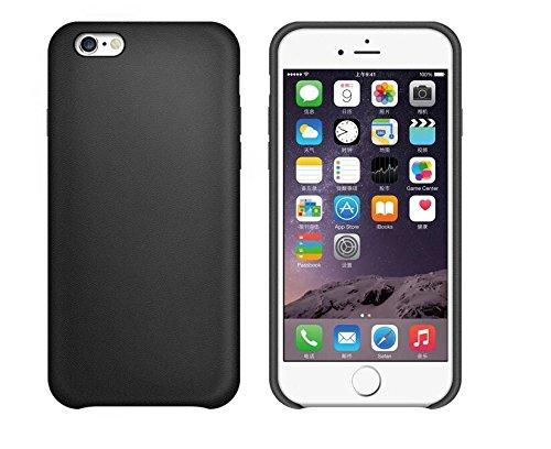 Apple iphone 7 Hülle PU Ledertasche Cover Tasche schicke Schutzhülle robust Schutz Handyschale f. (iphone 7, schwarz)