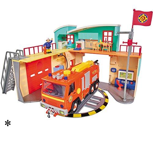 feuerwehrmann sam neue feuerwehrstation Feuerwehrmann Sam Neue Feuerwehrstation mit Figur, Drehscheibe, Licht und Sound • Feuerwehr Station Feuerwache Spiel Set Feuerwehrhaus