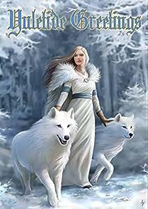 Winter tuteurs-Anne Stokes Yule/Carte de vœux