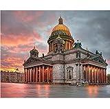 Berlín Iglesia Paisaje Pintura Digital Diy Por Números Moderno Arte De La Pared Pintura De La Lona Regalo Único Decoración Para El Hogar 50X60CM