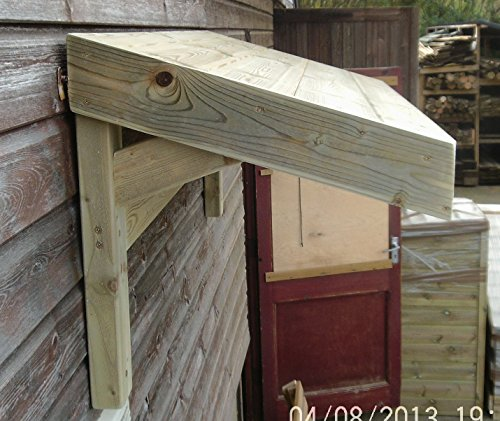 Timber Front Door Canopy Porch Bespoke Hand Made Porch (120cm(L0 x50cm(H) x50cm(D)) Amazon.co.uk DIY u0026 Tools & Timber Front Door Canopy Porch Bespoke Hand Made Porch (120cm(L0 ...