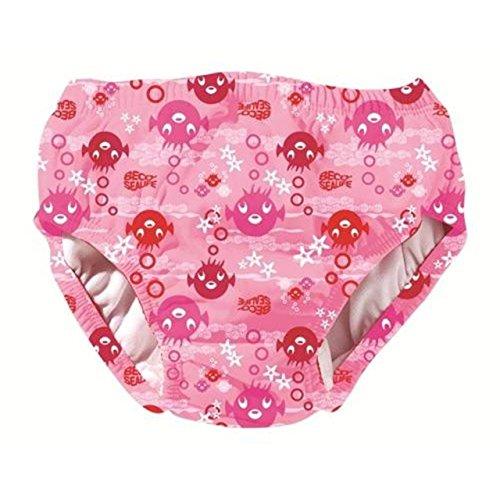 Beco bébé Bain Aqua Couches réutilisable Lavable Enfants Maillots de Bain Couche Multi Couleur, Rose
