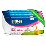 #7: Little's Soft Cleansing Baby Wipes (Pack of 4, 80 Wipes)