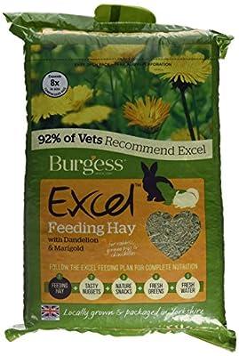 Burgess Excel Barn Dried Forage Rabbit Food 1 kg (Pack of 3)